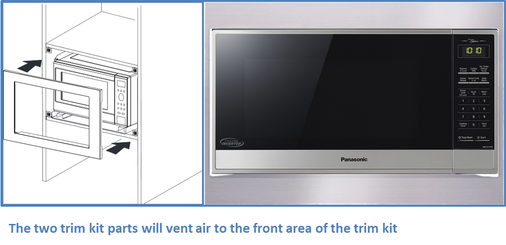 Where Does The Vented Air Go When Microwave Is Installed In A Cabinet With Trim Kit Nn Tk714ss